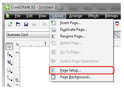 Corel draw tutorial to setup files for print click layout page setup reheart Images