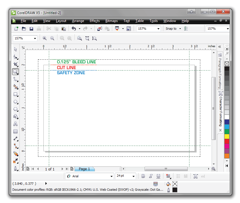 Corel Draw Tutorial to Setup Files for Print