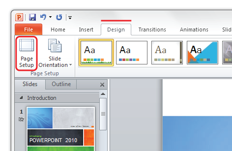 microsoft powerpoint tutorial to setup files for print