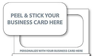 punch out a business card magnet for a second promotional item