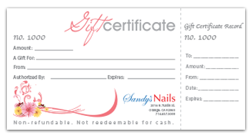 Select Graphics And Printing Print Shop In Orange County Since - Numbered gift certificate template