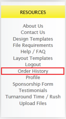 review order history before checkout