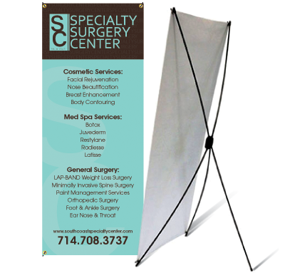 Banner with X-Stand
