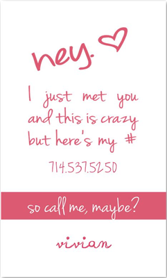 Call Me Maybe 2 Pink